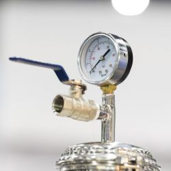 Pressure dial Gauge for measuring air pressure in manufacturing equipment